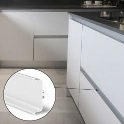 Perfil Gola Intermedio Horizontal Blanco Cocina