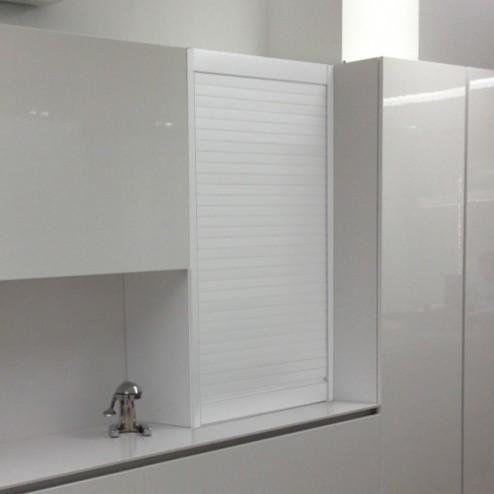 Kit para mueble persiana cocina aluminio blanco