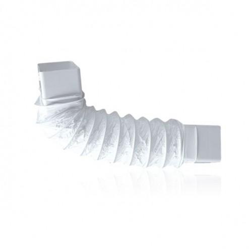 Codo rectangular flexible 90x180mm Largo 500mm