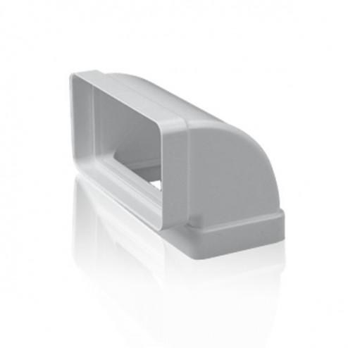 Codo rectangular vertical 90º 75x150 mm