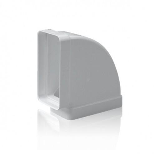 Codo rectangular horizontal 90º 75x150 mm