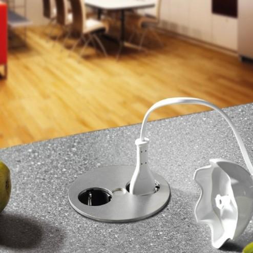 Modulo de 2 enchufes compacto para cocina