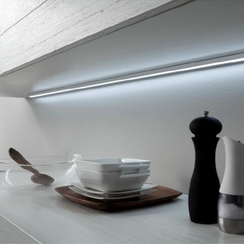 Plafón de Leds en Aluminio Mod. Lugano para Cocina