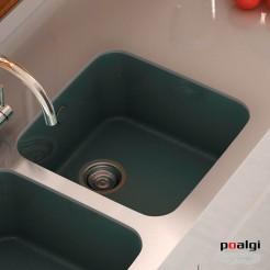 Fregadero 44x44,5 Poalgi GANDIA 40 Resina Colores