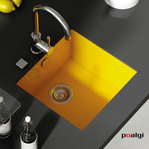 Fregadero 46,8x52 Poalgi SHIRA 501 Resina Colores
