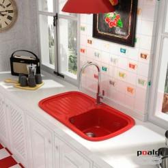 Fregadero 88x50,5 Poalgi DIAMANTE Resina Colores