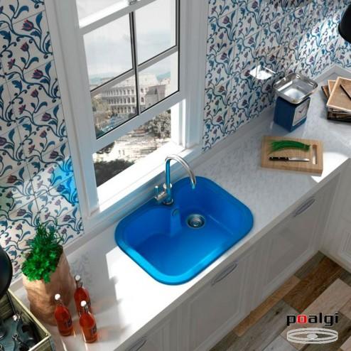 Fregadero 63,5x49 Poalgi RUBI Resina Colores