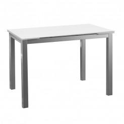 Mesa Cocina-Comedor Cristal Alas Extensibles 76x120~180x80 cm