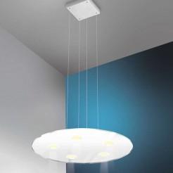 Lámpara Led 600 mm 3750 lm Inox y Cristal Sun