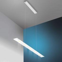 Lámpara Led Rectangular Inox y Cristal Sun V2