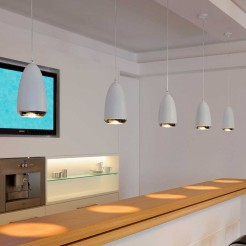 Lámpara Techo Decorativa Halógena GU10 75W Cromo y Blanco Klauss