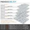 Cubertero Modular Inyección Gris Cajon Blum