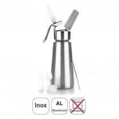 Sifón Crema Inox + Cabezal Aluminio