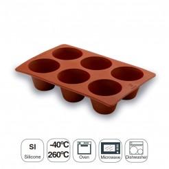 Molde de Flan 6 Cavidades Silicona Pastryflex