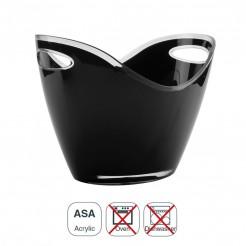 Cubo Enfriabotellas Acrílico Negro Doble Asa