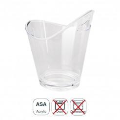Cubo Enfriabotellas Acrílico Transparente Doble con Asa