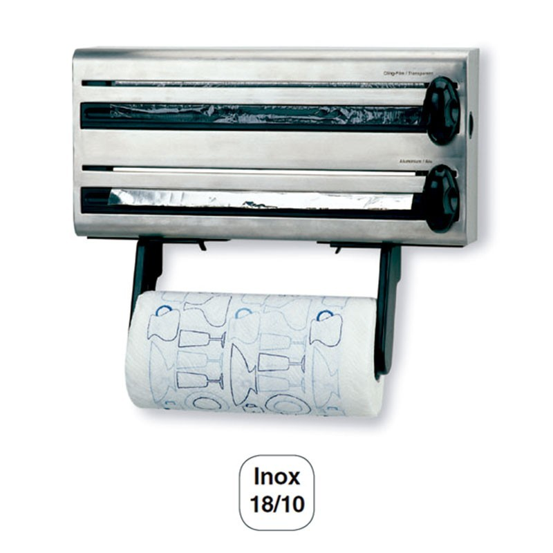 Portarrollos de pared 3 en 1 para cocina acero inoxidable for Portarrollos de cocina