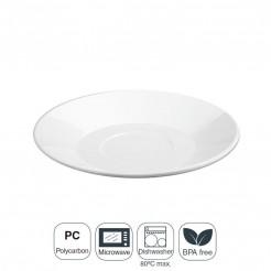 Plato Desayuno Policarbonato 18x2,5 cm