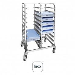 Carro Portabandejas Inox para 20 Unidades