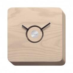 Reloj de Pared 22x22 cm Madera de Fresno Orologio