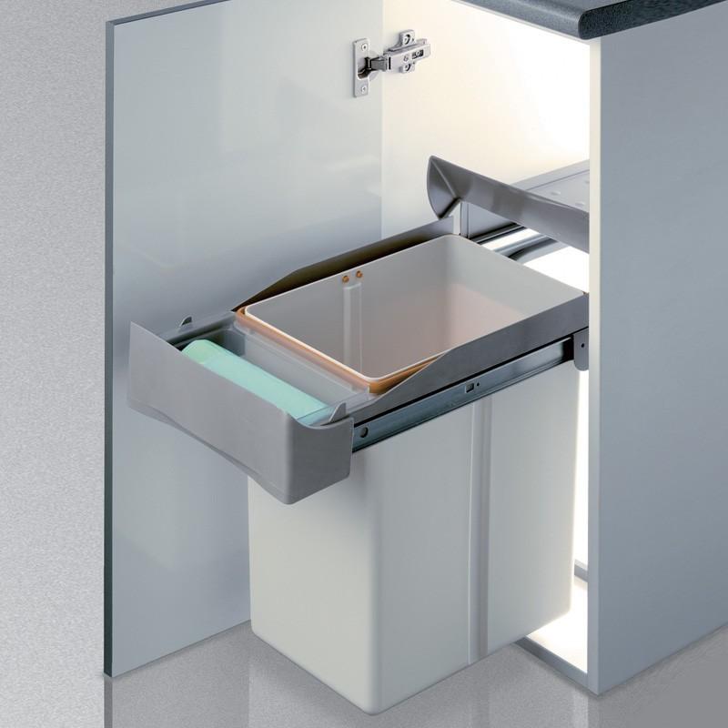 Cubo basura rectangular 21l apertura manual - Cubos basura cocina ...