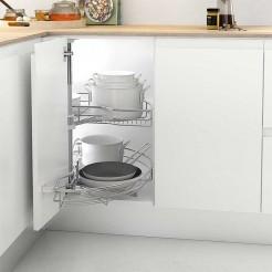 Bandeja giratoria 180º 2 CESTOS para rincón ciego cocina