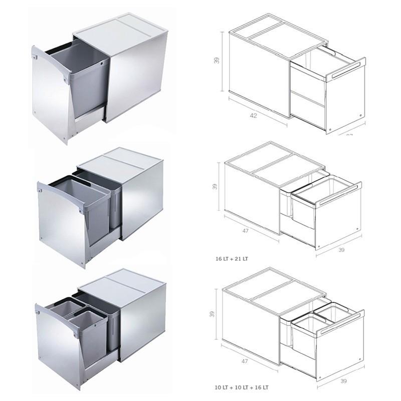 Muebles de cocina de reciclaje ideas - Cubos de basura para reciclar ...