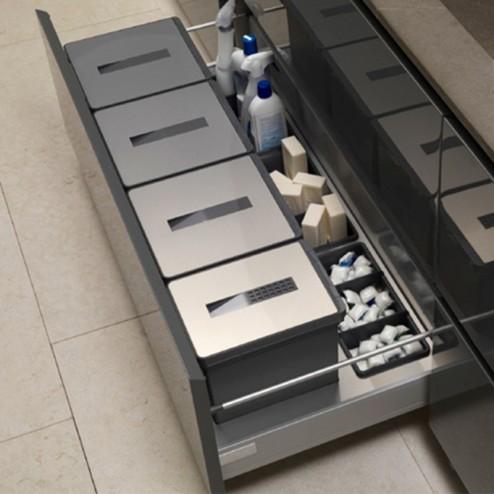 Cubos Basura Reciclaje Acero Inoxidable y PVC