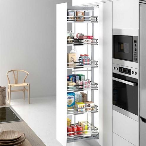 Kit bastidor columna extraible flat cromo para mueble de Muebles de cocina extraibles