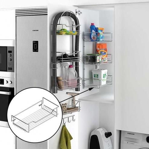 Estante para armario escobero 1 piso - Armario escobero cocina ...