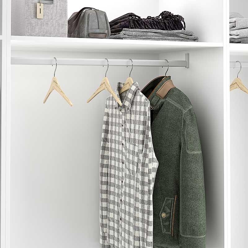 Barra de armario con almohadilla para colgar prendas - Barras de armario ...