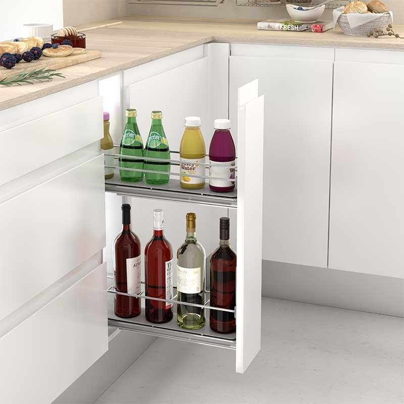 Extra ble botellero gu as laterales para mueble bajo de cocina - Mueble botellero cocina ...