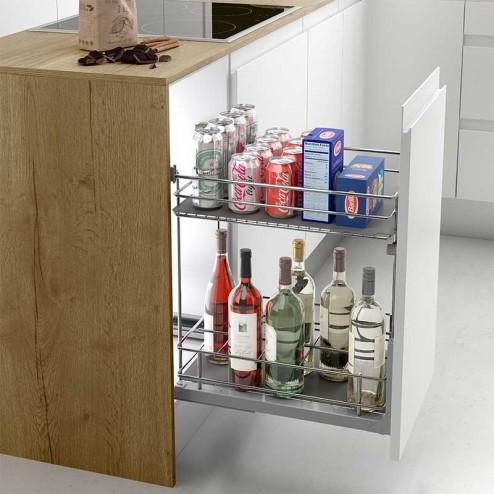 Extra ble botellero classic extracci n total para mueble - Mueble botellero cocina ...