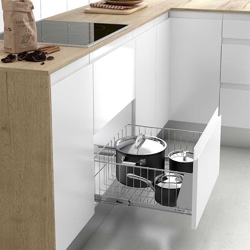 Cesto extra ble cacerolero para mueble cajones de cocina for Crear cocina online