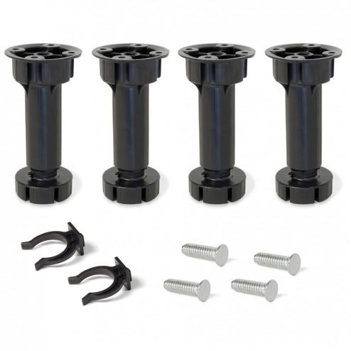 Pie nivelador para mueble regulable 4 uds bone emuca Niveladores para muebles