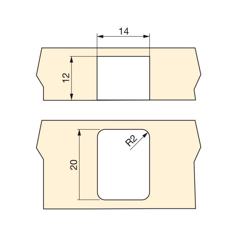Rueda auxiliar para muebles d 13 mm para tapa giratoria - Ruedas giratorias para muebles ...