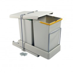 Cubo Basura 14 + 14 L Extracción y Tapa Automática