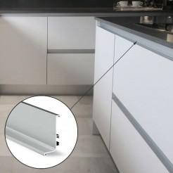 Perfil Gola Superior Horizontal Aluminio Cocina