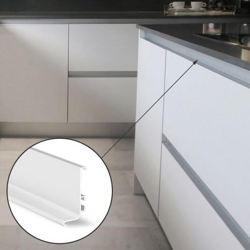 Perfil Gola Superior Horizontal Blanco Cocina
