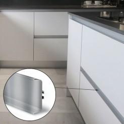 Perfil Gola Intermedio Horizontal Inox Cocina