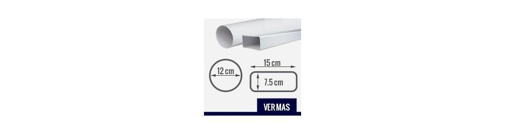 Extractor ba o rectangular for Salida de humos campana extractora
