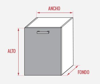 alto kit mueble/modulo cocina online medida estandar - Medida De Muebles De Cocima