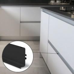 Perfil Gola Intermedio Horizontal Negro Cocina
