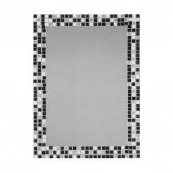 Espejo de Baño Luna Gresite Negro-Blanco 55x75 cm
