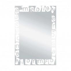 Espejo de Baño Luna Letras Blanco 55x75 cm