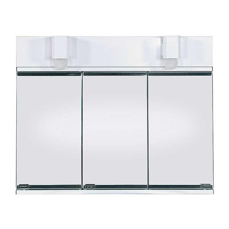 Espejo Camerino de Baño Nova Metálico Blanco 3 Puertas