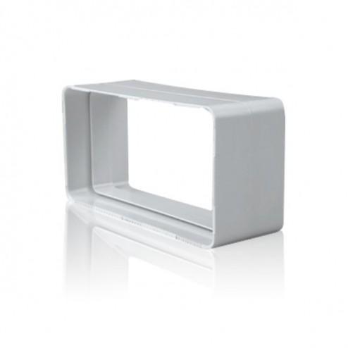 Empalme rectangular plano 90x180mm