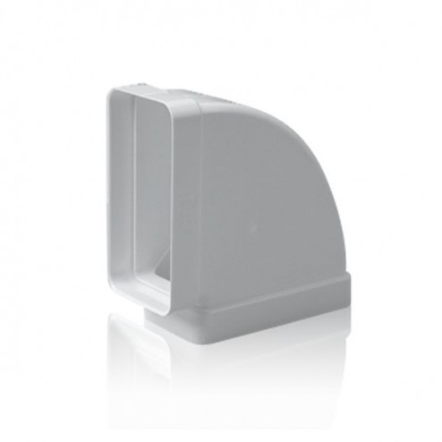 Codo rectangular horizontal 90º 90x180 mm