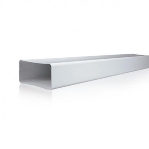 Tubo rectangular rígido 60x120x1500 mm