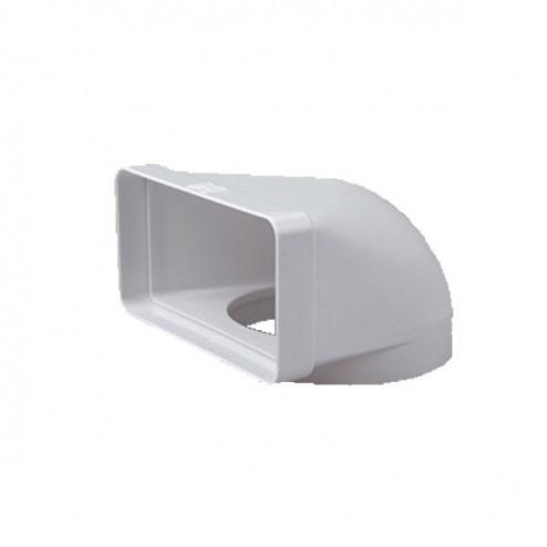 Codo mixto vertical 90º De diametro 100 mm a 60x120 mm